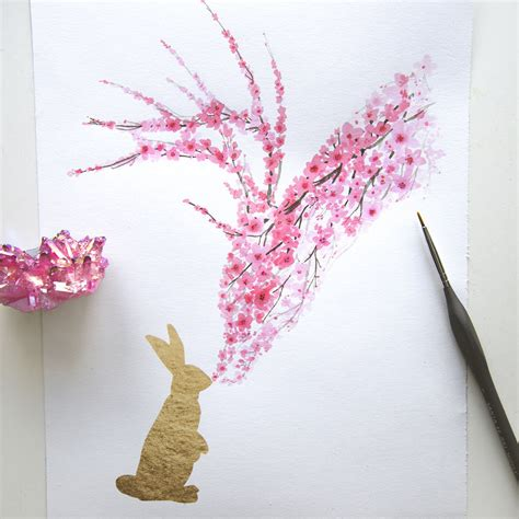 i watercolor cherry blossom animals bored panda