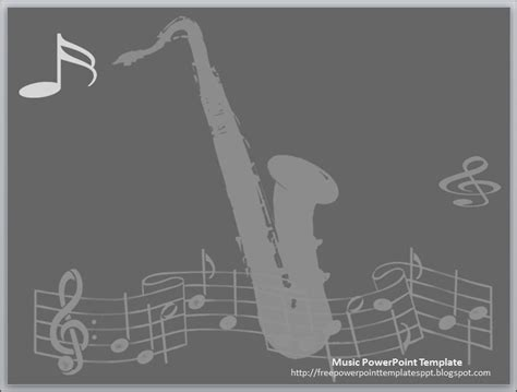 jazz music theme powerpoint template free download by