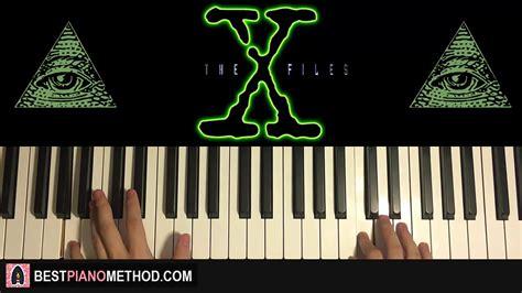 piano tutorial x files theme how to play the x files theme song illuminati piano