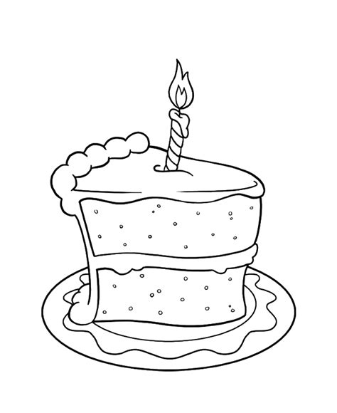 coloring page birthday cake coloring home
