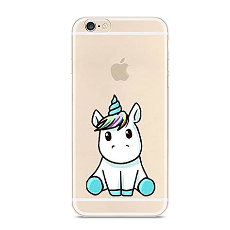 Iphone 6 Iphone 6s Baby Skin Cover Ultra Thin Gold iphone 6 6s unicorn pattern on soft tpu