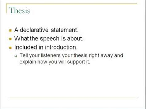 thesis statement for a speech purpose and thesis statements in speeches