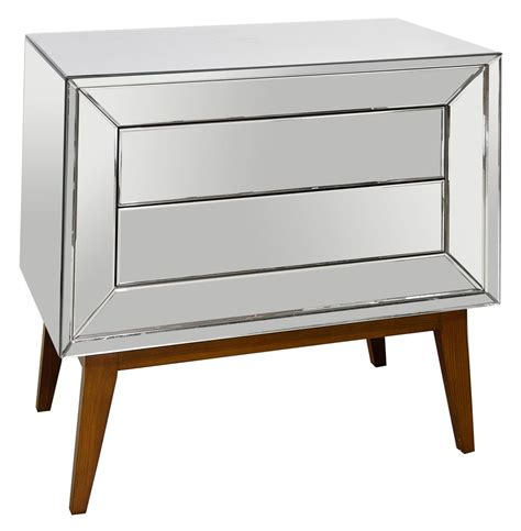Mirror And Wood Nightstands vivianne regency mirror wood nightstand chest