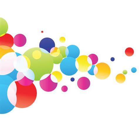 colorful bubbles colorful glowing bubbles background vector illustration