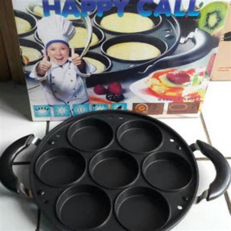 Cetakan Kue Lumpur Lubang 7 Datar original cetakan happy call 7 lubang lumpur apem snack
