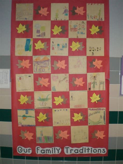 27 Best Images About 2nd Grade Family History Project On Classroom Quilt Template