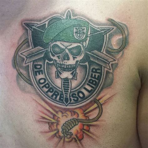 special forces tattoo army special forces veteran ink