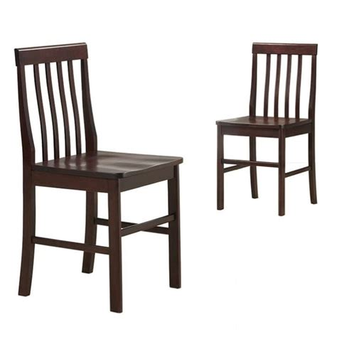 Walker Awnings Reviews Walker Edison Solid Dining Chair In Espresso Set Of 2