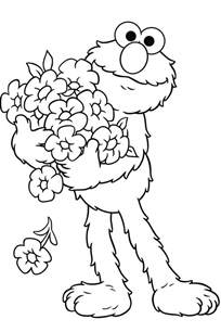 elmo coloring free printable elmo coloring pages for