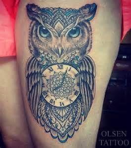 Bird tattoos owl tattoos tattoos for girls thigh tattoos