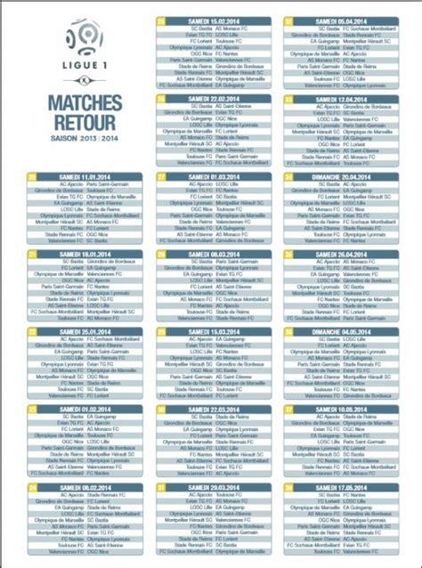 Calendrier 1 4 De Chions League 2013 Ligue 1 Calendrier De La Saison Le 13 Juin 2013