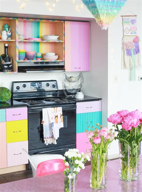 washi tape kitchen cabinets more is more 10 maximalist homes design sponge