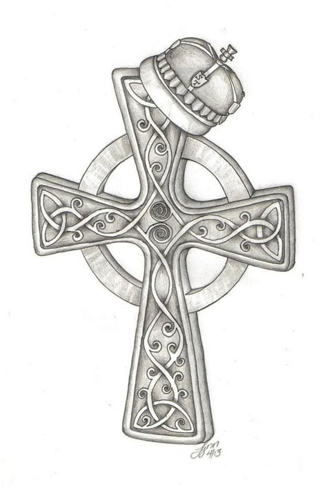 celtic iron cross tattoo celtic cross with crown design