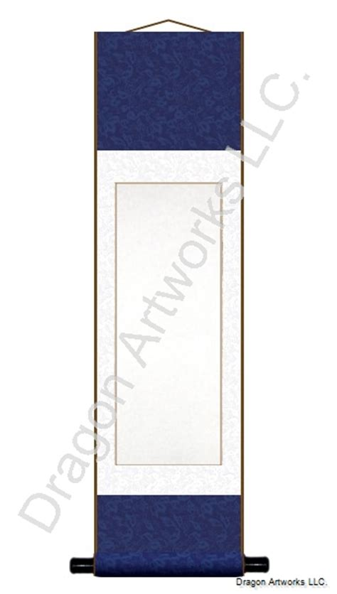 painting on blank paper navy blue and white blank paper wall scroll painting