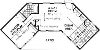 V Shaped Floor Plans by Ranch Style House Plans 768 Square Foot Home 1 Story