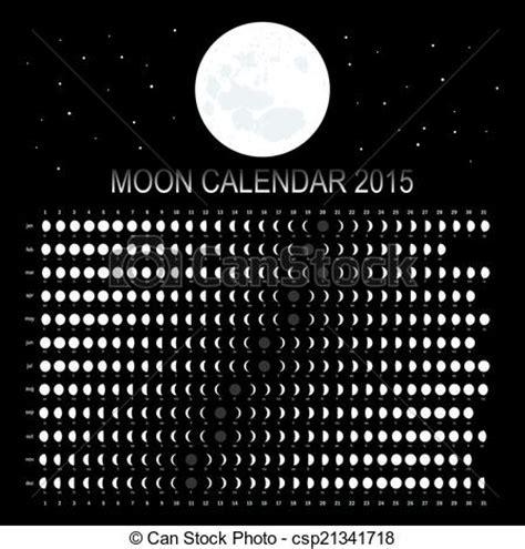 Calendario Can 2015 Vector Clip Of Moon Calendar 2015 On Black Background