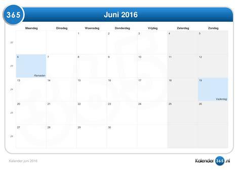 Juni Kalender 2016 Kalender Juni 2016