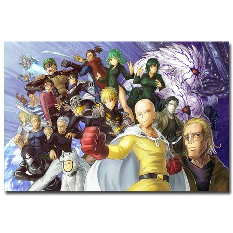 Poster Anime One Punch Saitama Genos 1 one punch anime poster print saitama genos 32x24
