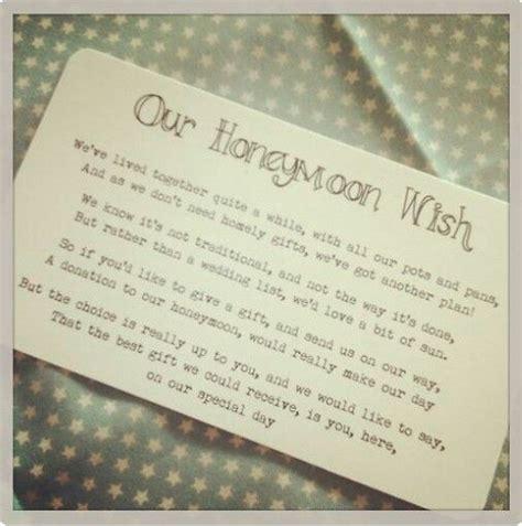 no gifts honeymoon wish winter wedding wedding invitations wedding gifts for guests