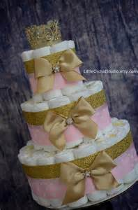pink and gold baby shower princess cake unique