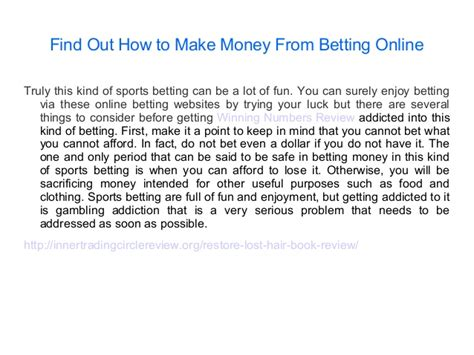 How To Make Money From Betting Online - the important betting tips on betfair snooker