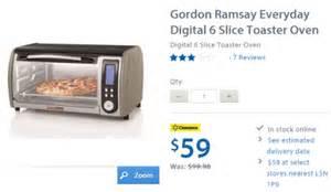 Toaster Canadian Tire Walmart Canada Clearance Deal Gordon Ramsay Everyday