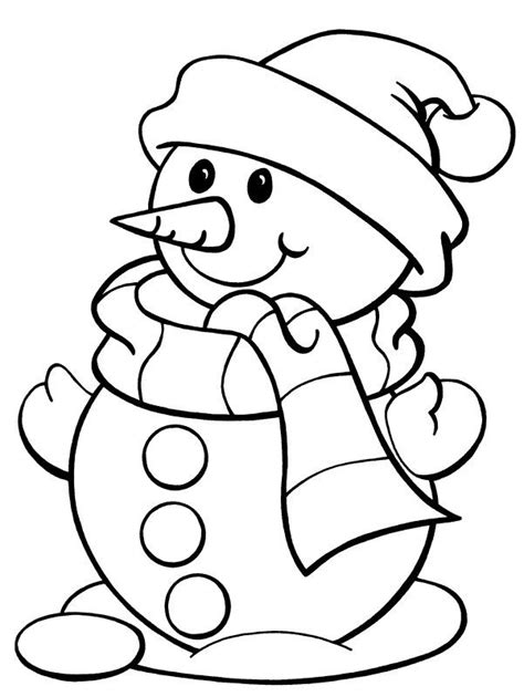 simple snowman coloring page simple snowman coloring pages free printable snowman