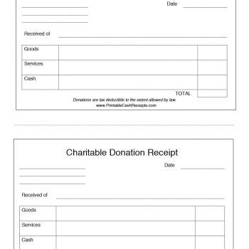 office template donations tracker and receipt generator 40 donation receipt templates letters goodwill non profit