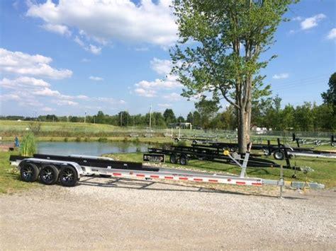 used boat trailers illinois aluminum tri axle boat trailer 27 30 ft 14300 lbs chicago