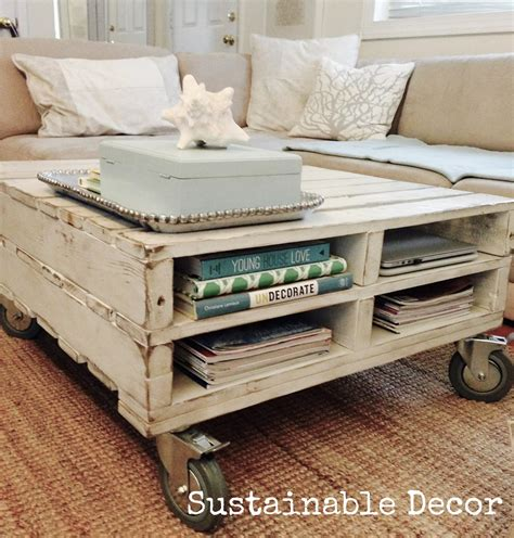 Diy Pallet Coffee Table Wheels Diy Coffee Table On Wheels Using Pallets