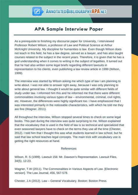 check  flawless sample interview paper   format