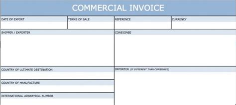 download international commercial invoice template word