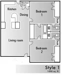 how big is 1000 square floor plans windmill townhomes