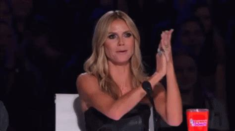 woman with short hair masterbating clapping heidiklum gifs say more with tenor