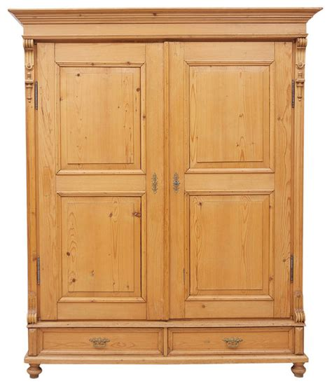 Large Armoire Wardrobe Large 19th Century Pine Armoire Midcentury Armoires