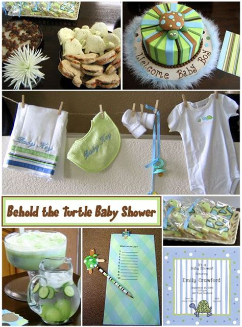 Turtles Baby Shower Theme by Themed Baby Shower Ideas Baby Shower Boy