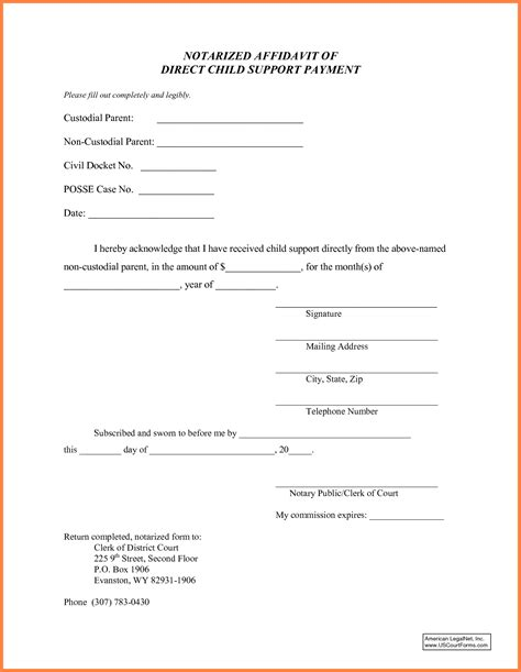Voluntary Child Support Agreement Letter Sle child support letter of agreement template 28 images
