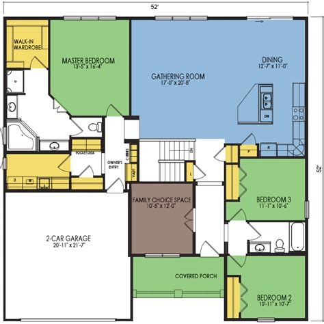 teton floor plan 3 beds 2 baths 2055 sq ft wausau homes