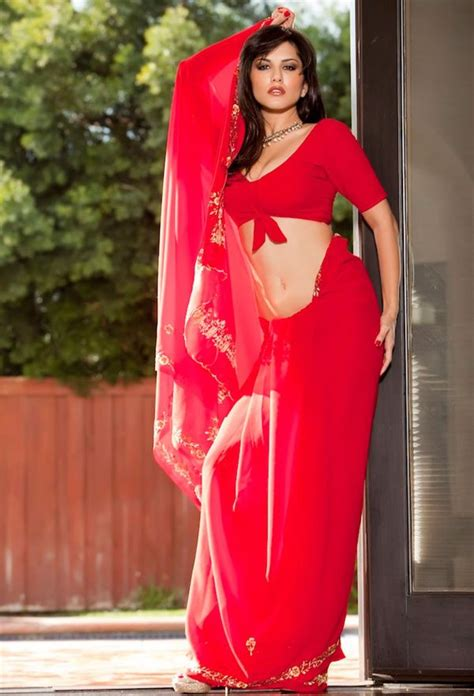 hollywood actress hot photos in saree hollywood actress sunny leone s hot photo in red silk