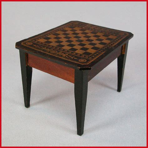 Antique Chess Table antique dollhouse biedermeier boulle chess table mid to