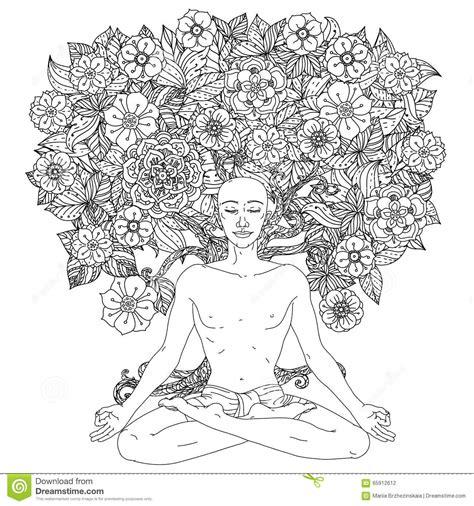 fleur de lotus mandala coloriagetv for coloring book stock vector image 65912612