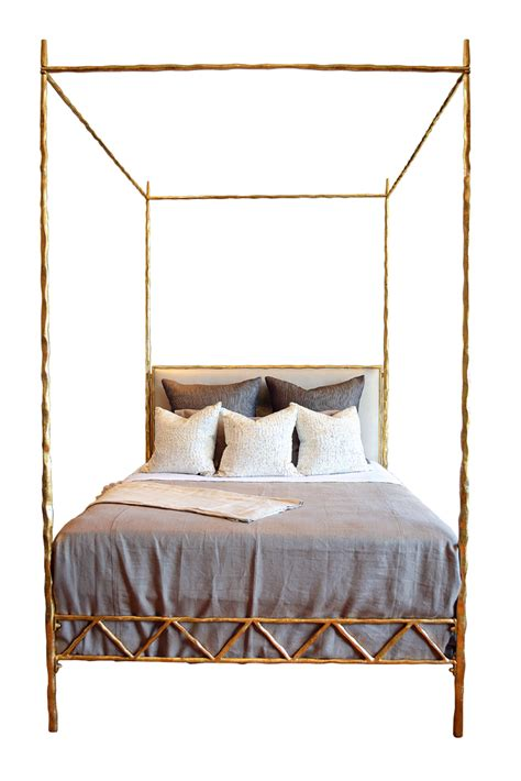 metal poster bed mandy queen four poster twisted metal bed mecox gardens