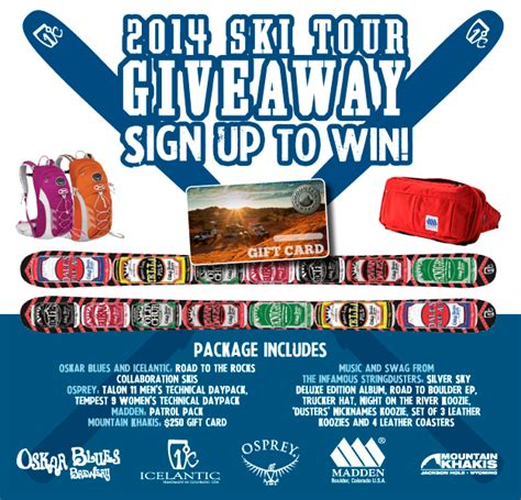 Ski Giveaway - the infamous stringdusters ultimate ski tour giveaway osprey packs experience