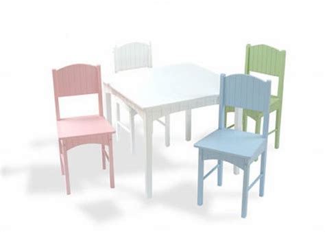 Pastel Table And Chairs by Kidkraft Nantucket Table 4 Pastel Chairs