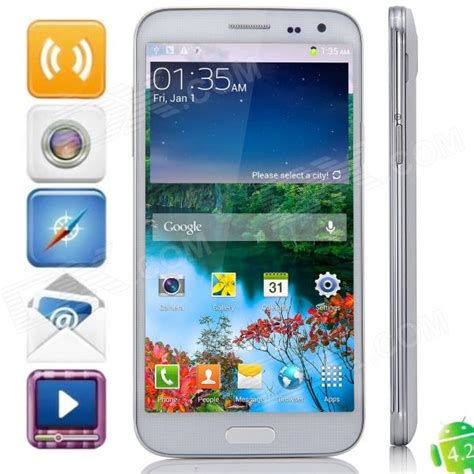 white 2 rom android g9000 android 4 2 octa wcdma phone w 2gb ram 16gb rom white free shipping dealextreme
