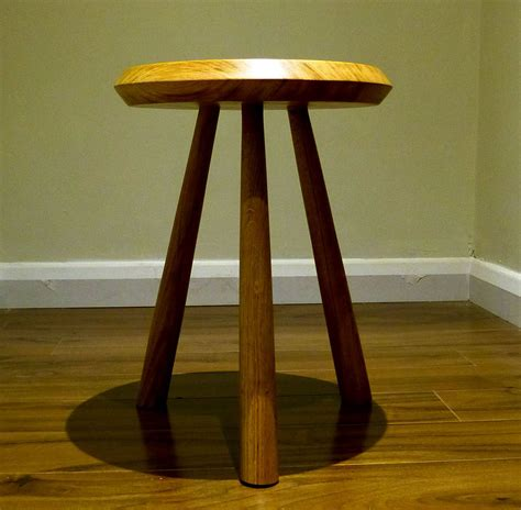 Handmade Side Table - handmade oak ufo side table or stool by thumb print