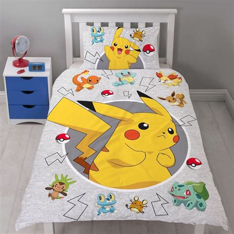 pikachu bed pokemon go duvet cover catch single panel pikachu bedding