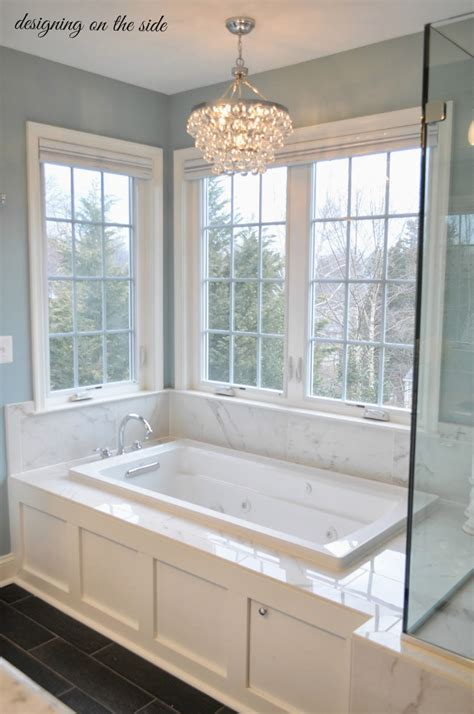 windows in guest shower new house pinterest bath designing on the side master bath reveal