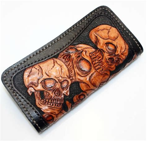 Blue leather wallet, handmade leather wallet for men   BagsWish