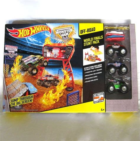 mattel jam trucks mattel wheels jam stunt stadium finals